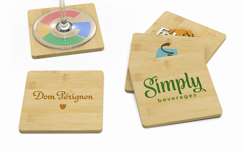 Bamboo | CustomUSB Square Coaster