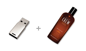 CustomUSB | American Crew Shampoo Bottle - Design Concept