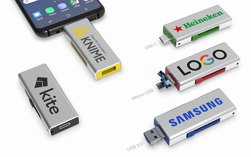 3 in 1 Mobile Slider | CustomUSB Flash Drive