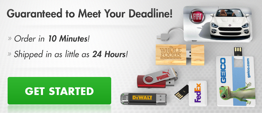 Custom USB Flash Drives | Guaranteed to Meet Your Deadline!