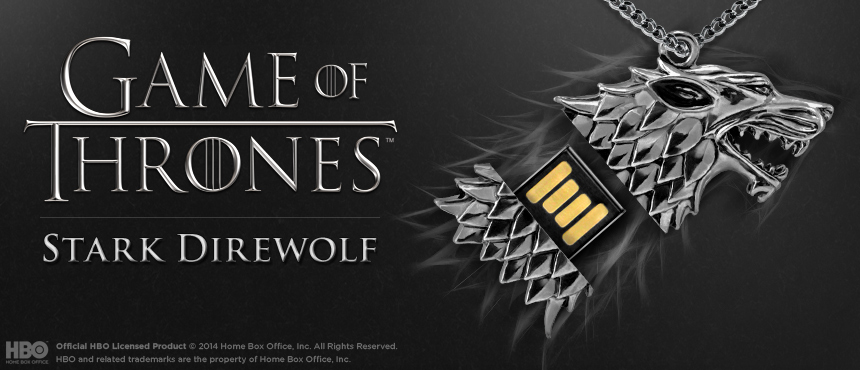 HBO Game of Thrones | Stark Direwolf | Custom USB Flash Drive