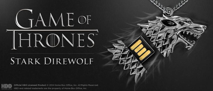 HBO Game of Thrones | Stark Direwolf | Custom USB Flash Drive