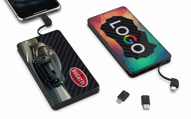 PowerTile Carbon Fiber | CustomUSB Mobile Charger
