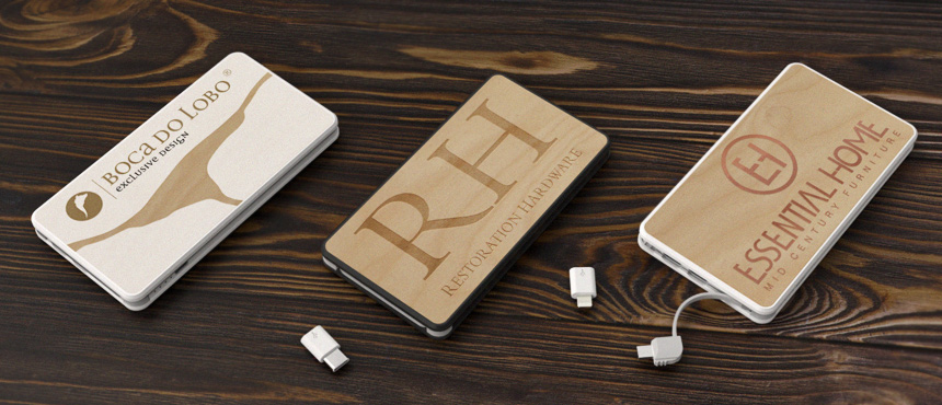 PowerTile Wood | CustomUSB Mobile Charger