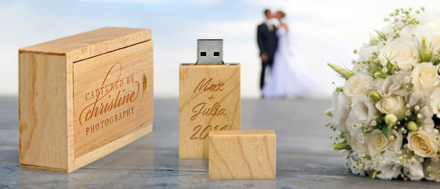Slide Top Wooden Box | CustomUSB