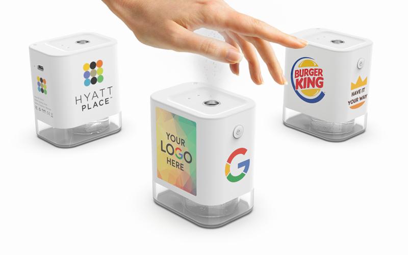 Mist Qube   CustomUSB Touchless Sanitizer Dispenser