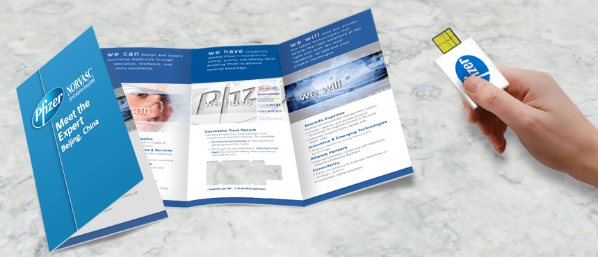 Smart Tri-Fold Brochure | CustomUSB Print Solution