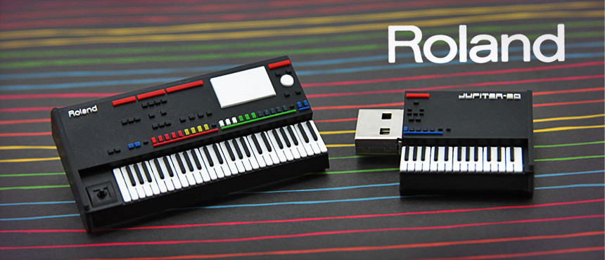 Roland - Incredible Synthesizer Replica | Custom Shaped USB Flash Drive