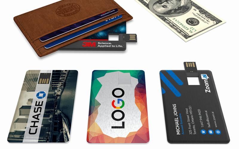 Wallet Card Metal | CustomUSB Business Card Flash Drive