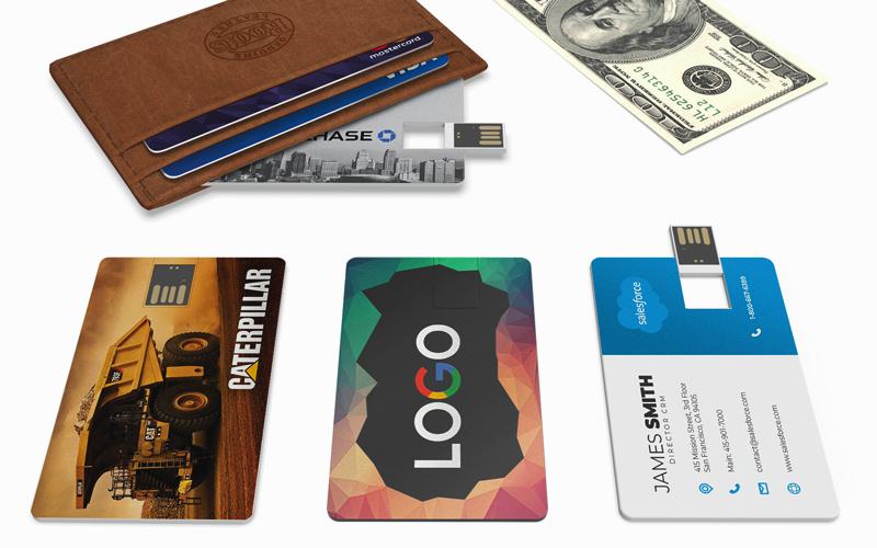 wallet card micro flip usb business card