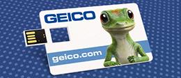 Wallet Card Micro Flip | USB Business Card