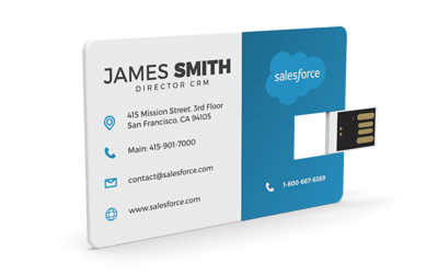 Wallet Card Micro Flip | USB Business Card