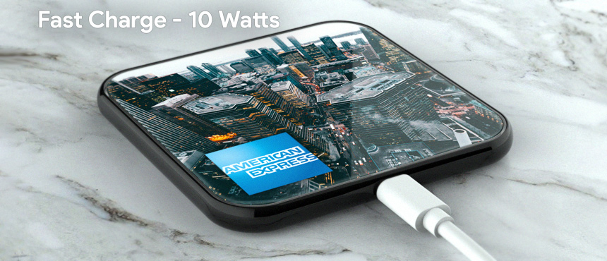 PowerSquare Glass | CustomUSB Wireless Charger